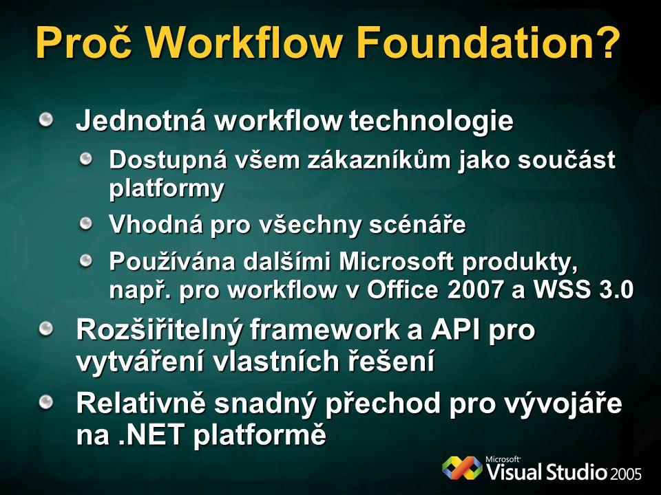 Proč Workflow Foundation.
