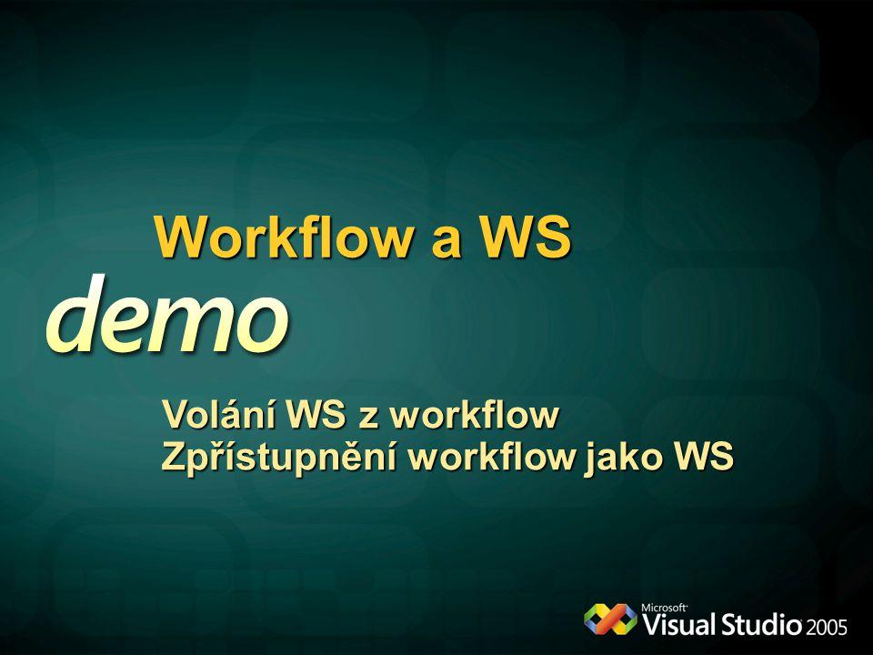 Workflow a WS Volání WS z workflow Zpřístupnění workflow jako WS