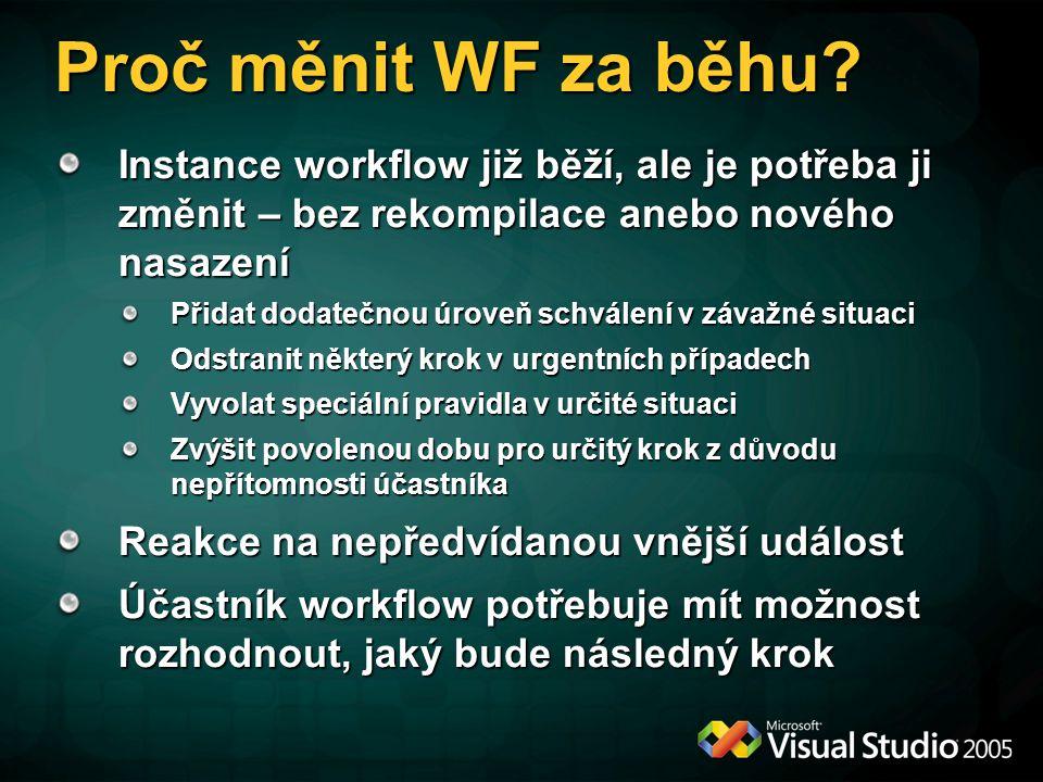 Proč měnit WF za běhu.