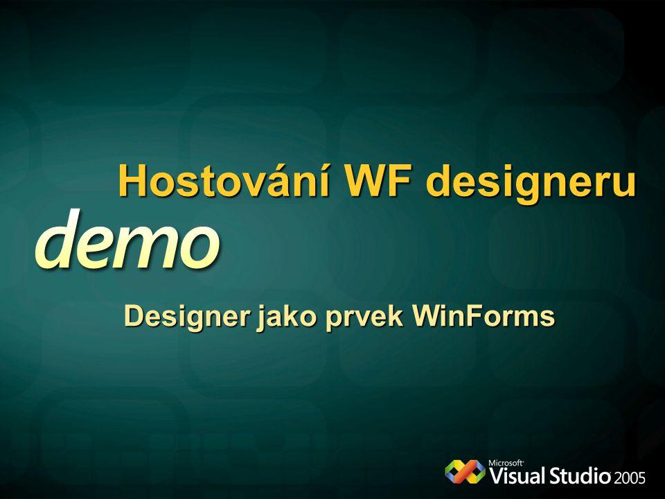 Hostování WF designeru Designer jako prvek WinForms