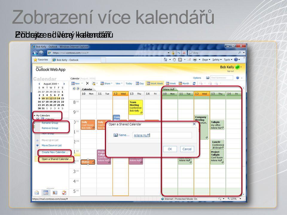 Zobrazení více kalendářů