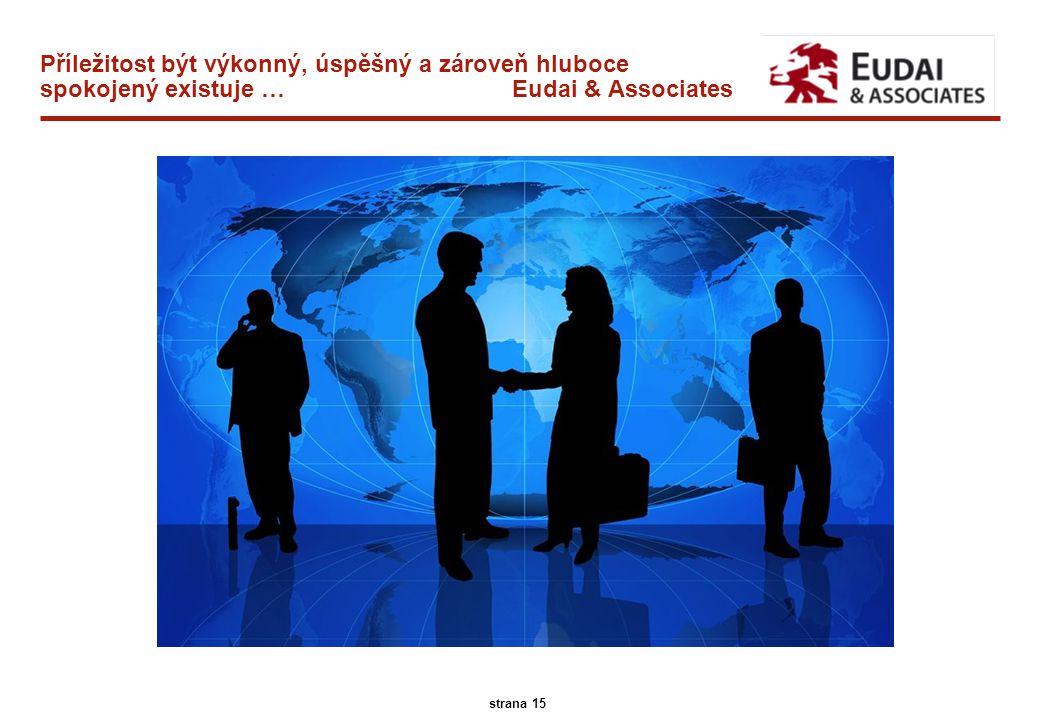 A.T. Kearney 45/13096 15 strana 15 Příležitost být výkonný, úspěšný a zároveň hluboce spokojený existuje … Eudai & Associates