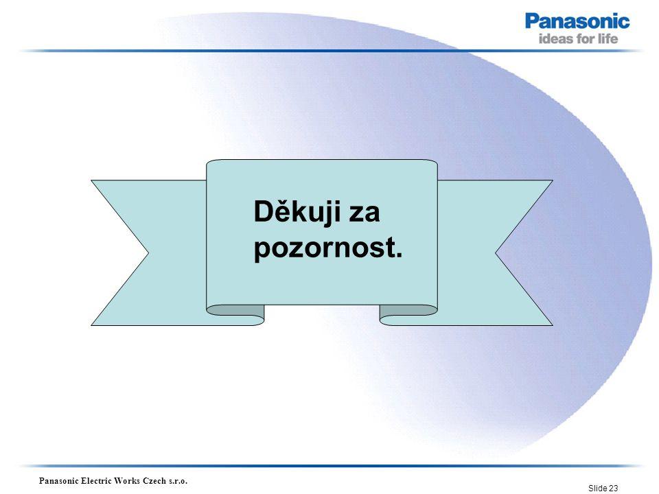 Panasonic Electric Works Czech s.r.o. Slide 23 Děkuji za pozornost.