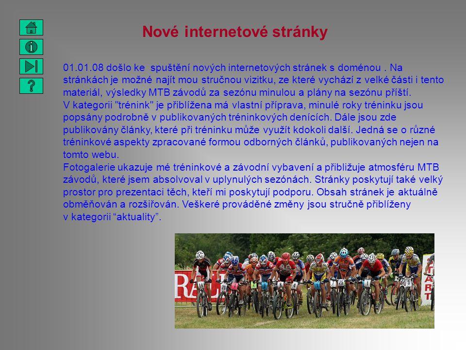 Nové internetové stránky 01.01.08 došlo ke spuštění nových internetových stránek s doménou. Na stránkách je možné najít mou stručnou vizitku, ze které