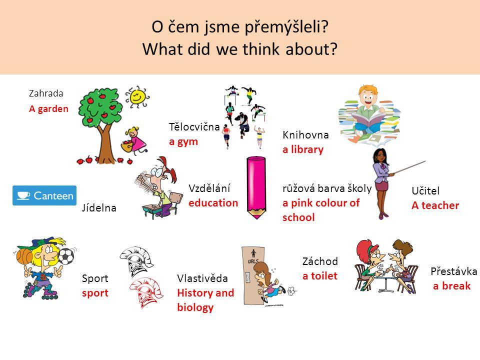 Co je typické pro naši školu.What is typical for our school.