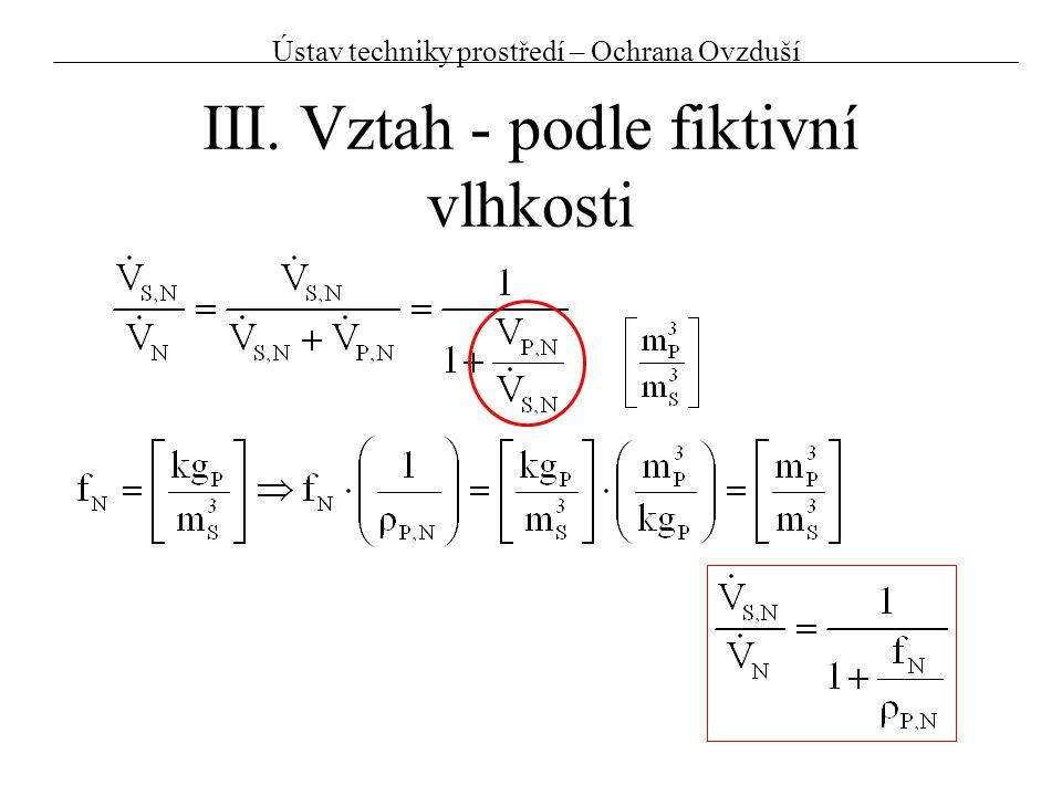Př.3:Přepočet koncentrací – kontrola emisního limitu Dáno: Velký zdroj na tuhá paliva EL = 250 mg/m 3 Naměřeno:C = 100 mg/m 3 t = 200°C W = 15,8% O 2 = 10,5%p = 90 kPa Určete zda byl, případně o kolik, překročen EL C N = C N,S = C N,S,R = 195,1 mg/m 3 tj.