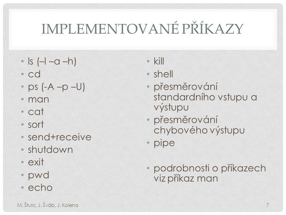NÁHLED GRAFICKÉHO ROZHRANÍ M. Štulc, J. Šváb, J. Kolena8