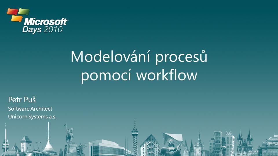 Agenda Základní principy workflow Novinky ve WWF 4.0 Tvorba workflow pomocí Visual Studio 2010 Tvorba vlastních aktivit Integrace s WCF
