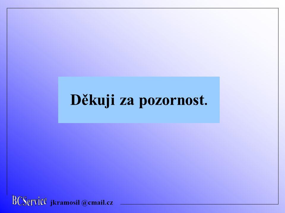 jkramosil @cmail.cz Děkuji za pozornost.