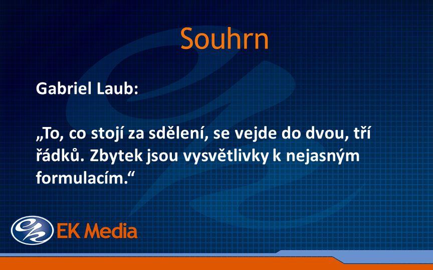 """Gabriel Laub: """"To, co stojí za sdělení, se vejde do dvou, tří řádků."""