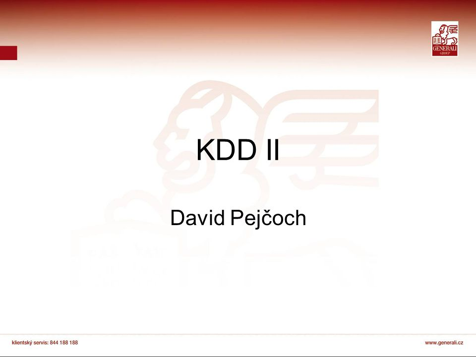 KDD II David Pejčoch