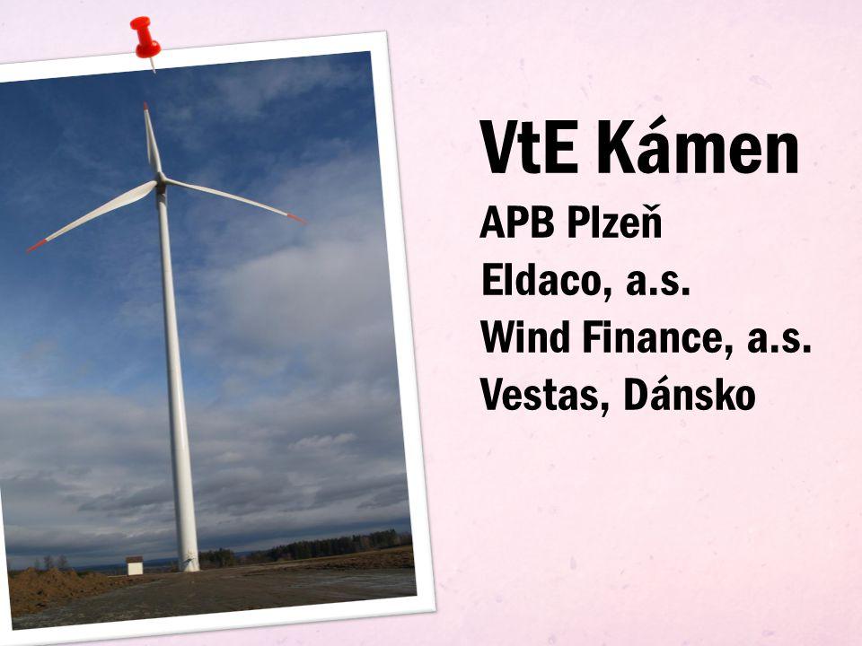 VtE Kámen Vestas V90-2.0MW 81 700 000Kč prosinec 2007