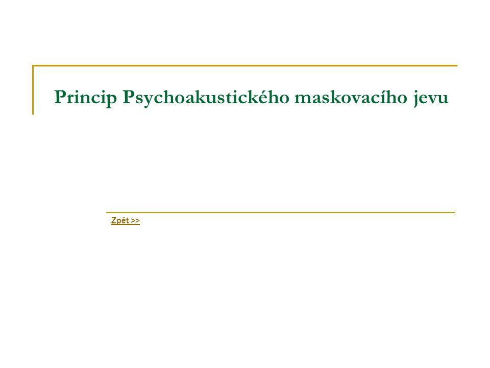 Princip Psychoakustického maskovacího jevu Zpět >>