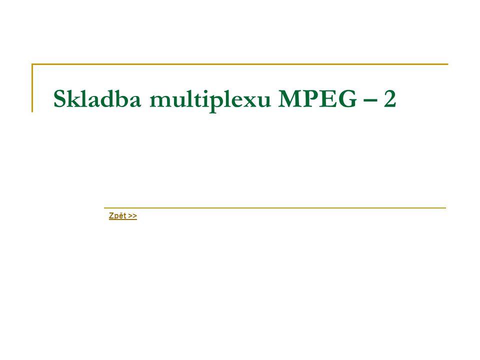Skladba multiplexu MPEG – 2 Zpět >>