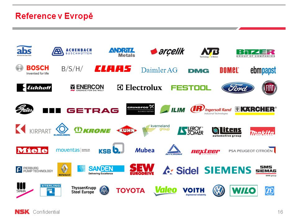 Confidential Reference v Evropě 16 Daimler AG