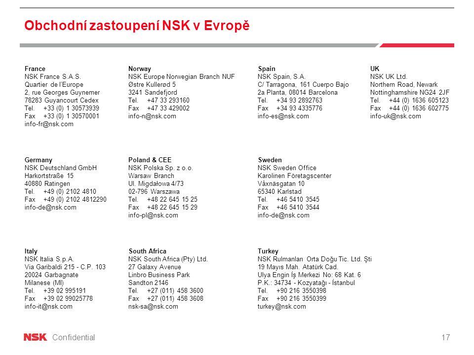 Confidential UK NSK UK Ltd.