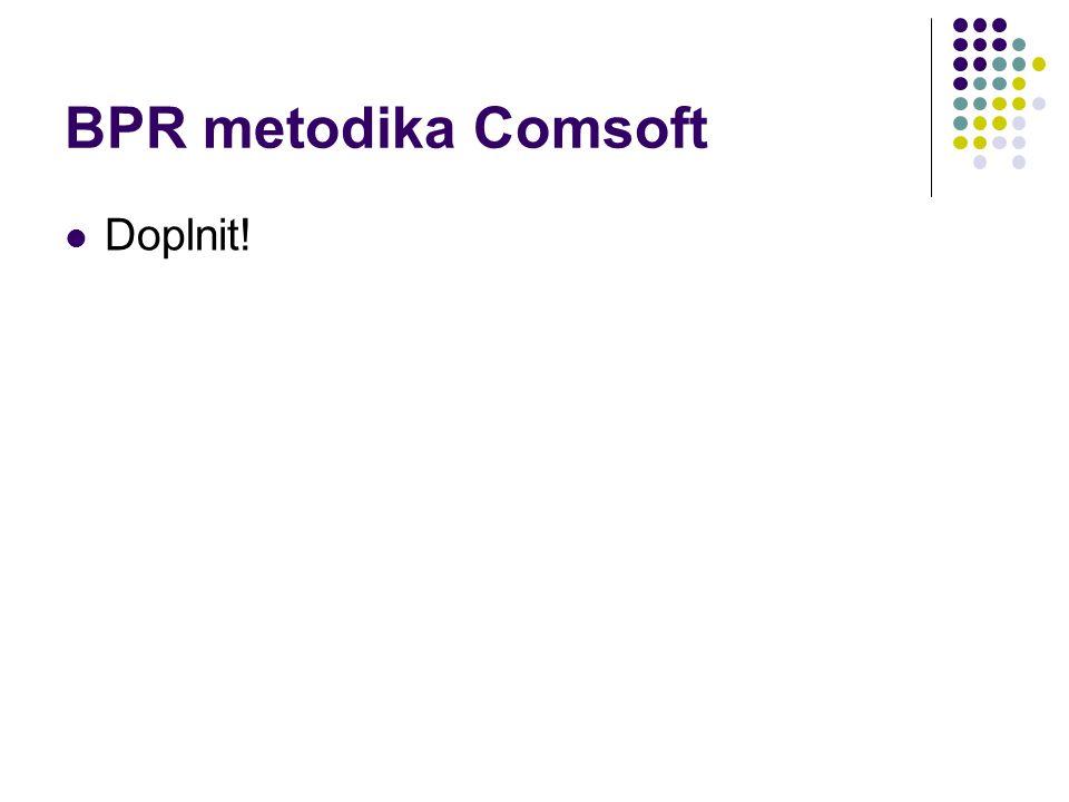 BPR metodika Comsoft Doplnit!