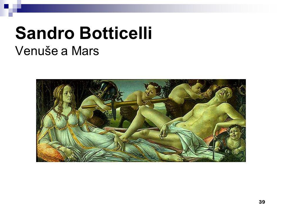 Sandro Botticelli Venuše a Mars 39
