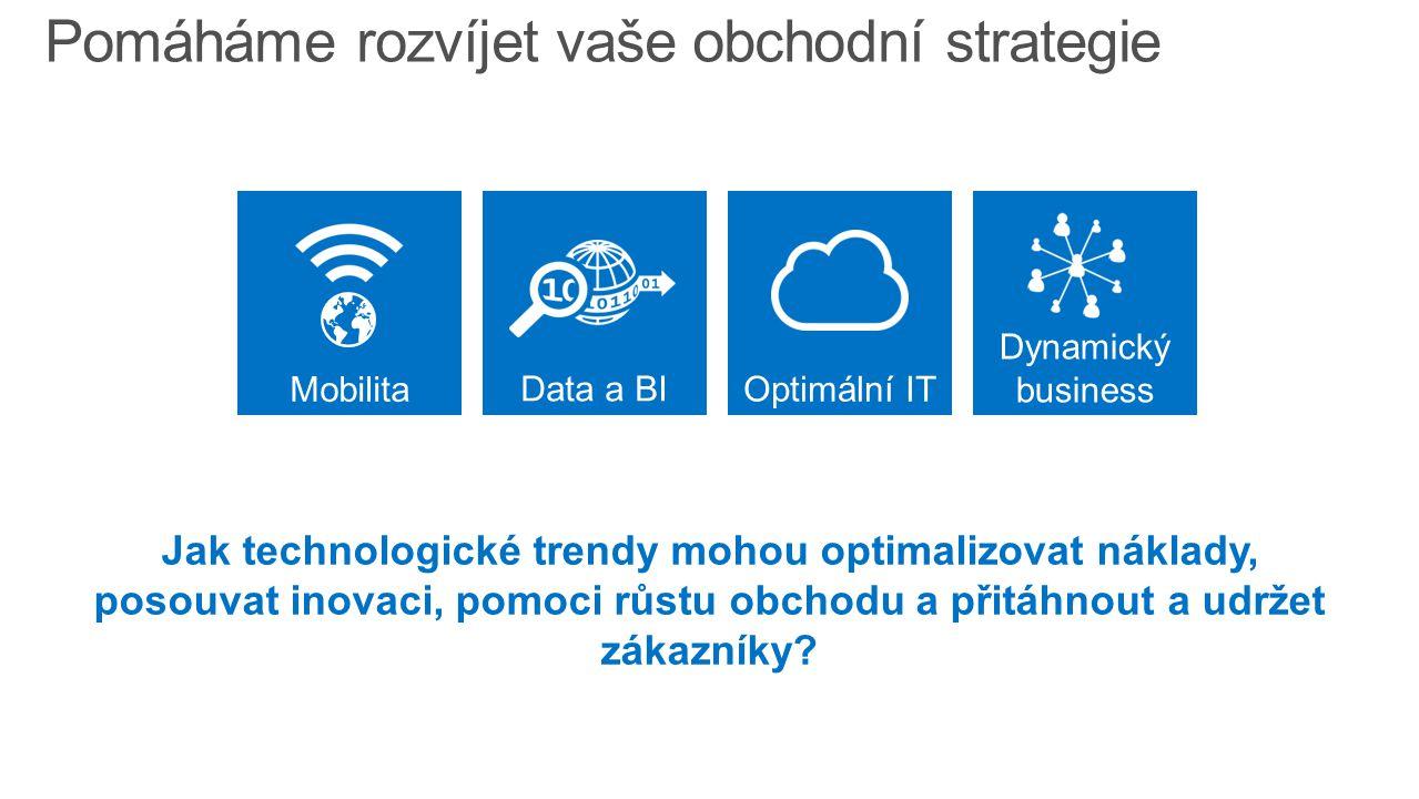 Dynamický business Reagujeme na měnící se business a trendy