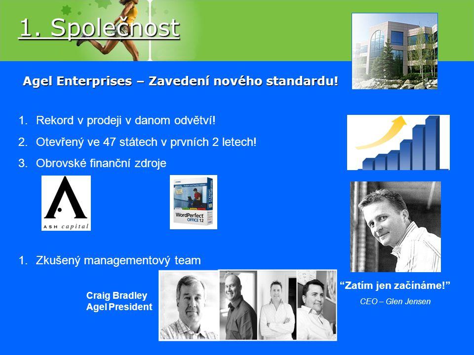 Agel Enterprises – Zavedení nového standardu! 1.Rekord v prodeji v danom odvětví! 2.Otevřený ve 47 státech v prvních 2 letech! 3.Obrovské finanční zdr