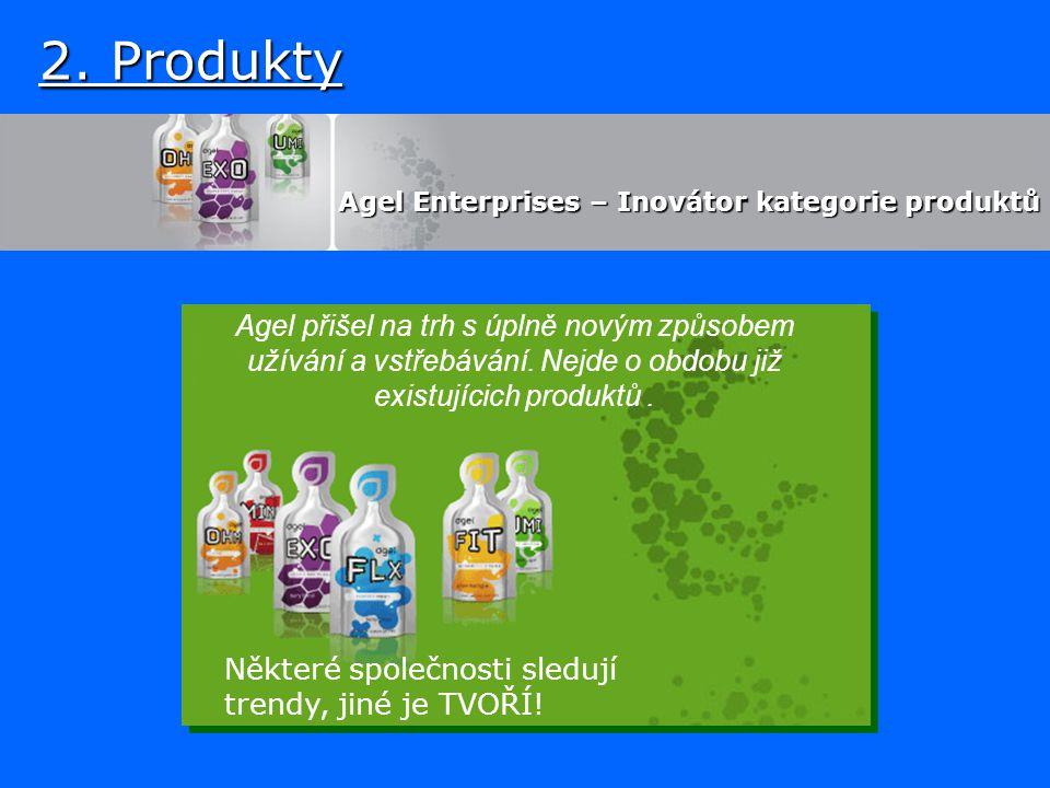 2. Produkty Agel Enterprises – Inovátor kategorie produktů Agel Enterprises – Inovátor kategorie produktů Agel přišel na trh s úplně novým způsobem už