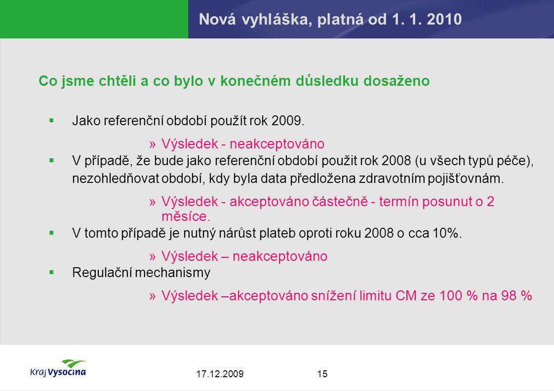 1517.12.2009 Nová vyhláška, platná od 1. 1.