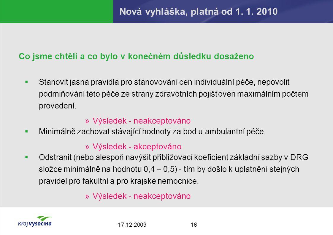 1617.12.2009 Nová vyhláška, platná od 1. 1.