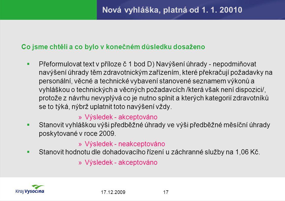 1717.12.2009 Nová vyhláška, platná od 1. 1.