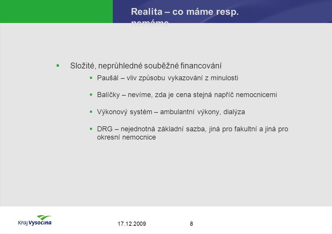817.12.2009 Realita – co máme resp.