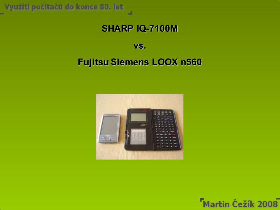 SHARP IQ-7100M vs. Fujitsu Siemens LOOX n560