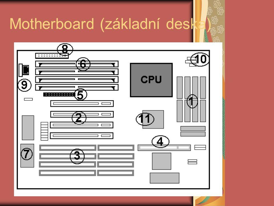 PCI ( Peripheral Component Interconect) 1992 32 bitů / 33 MHz (verze 1.0) výkon až 130 MB / s mezi CPU a periferiemi tvoří další vrstvu je procesorově nezávislá, možnost připojení různých typů procesorů nezatěžuje procesor možnost automatické konfigurace periferií snížení el.