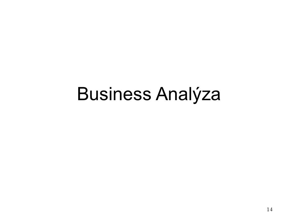 14 Business Analýza
