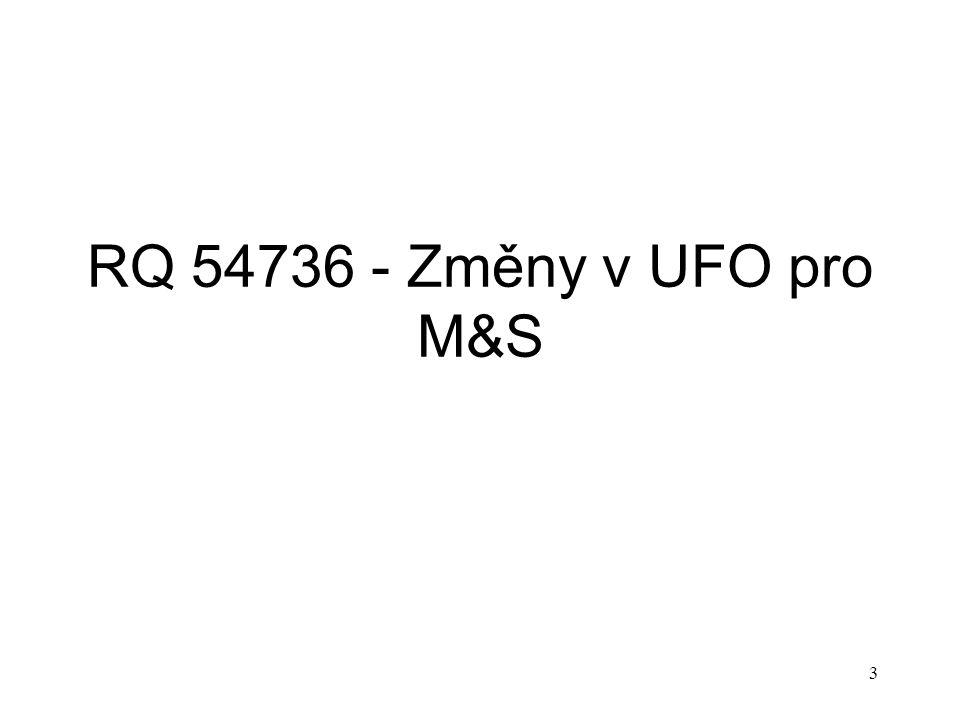 3 RQ 54736 - Změny v UFO pro M&S