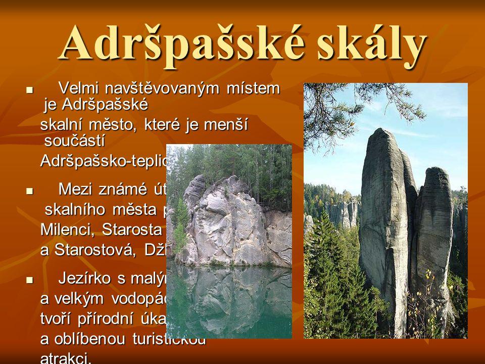 Broumovsko Oblast Broumovska leží v severovýchodních Oblast Broumovska leží v severovýchodních Čechách. V této lokalitě se nachází skalní město, Čechá
