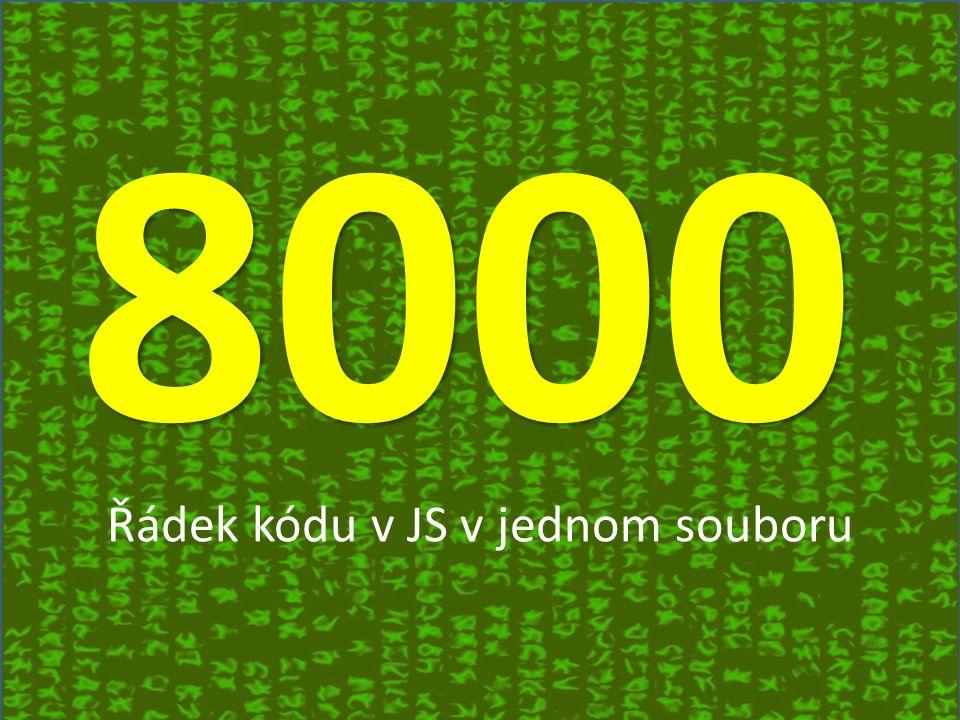 8000 Řádek kódu v JS v jednom souboru
