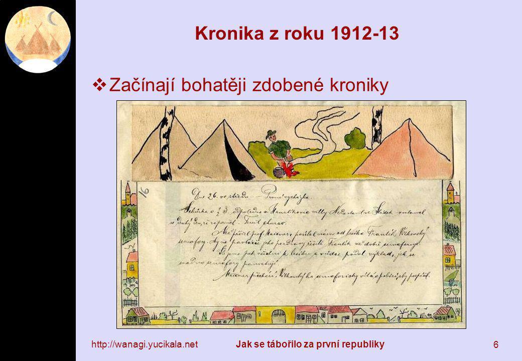 6 Kronika z roku 1912-13  Začínají bohatěji zdobené kroniky