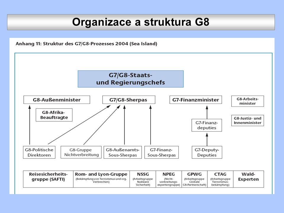 Organizace a struktura G8