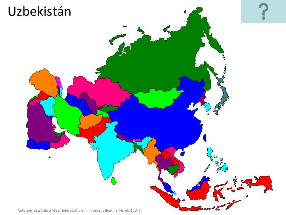 Autorem materiálu a všech jeho částí, není-li uvedeno jinak, je Marek Odstrčil. Uzbekistán
