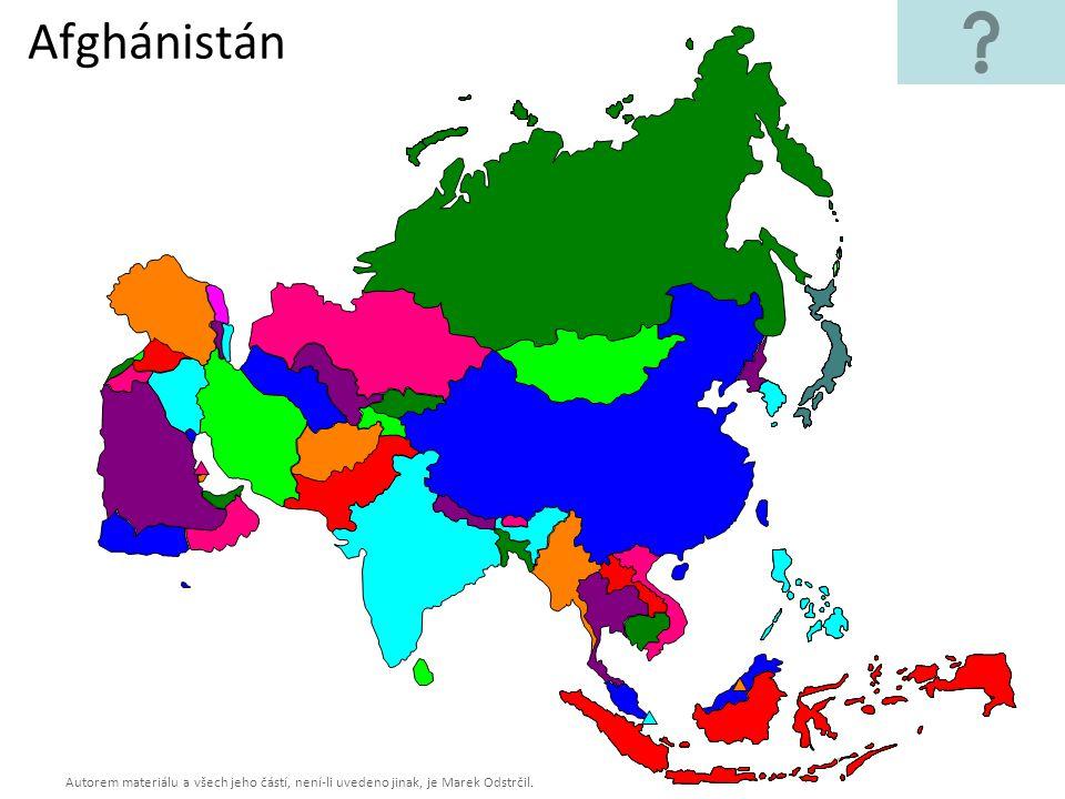 Autorem materiálu a všech jeho částí, není-li uvedeno jinak, je Marek Odstrčil. Afghánistán