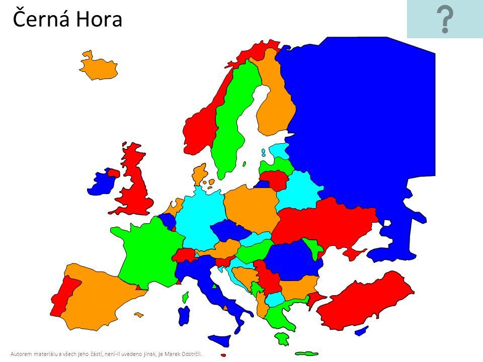 Autorem materiálu a všech jeho částí, není-li uvedeno jinak, je Marek Odstrčil. Černá Hora