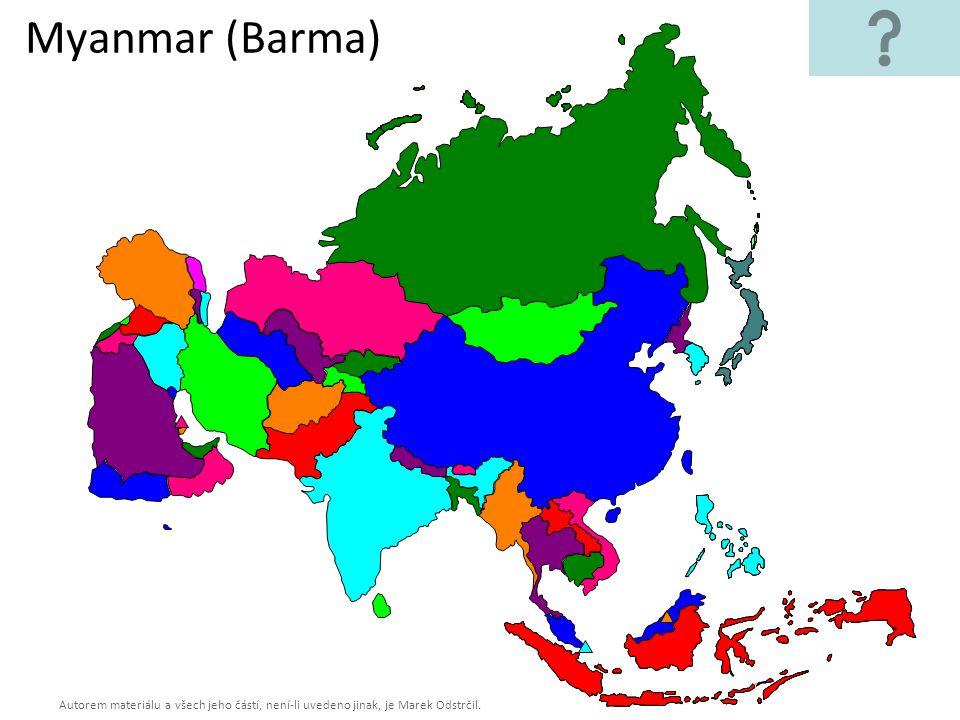 Autorem materiálu a všech jeho částí, není-li uvedeno jinak, je Marek Odstrčil. Myanmar (Barma)