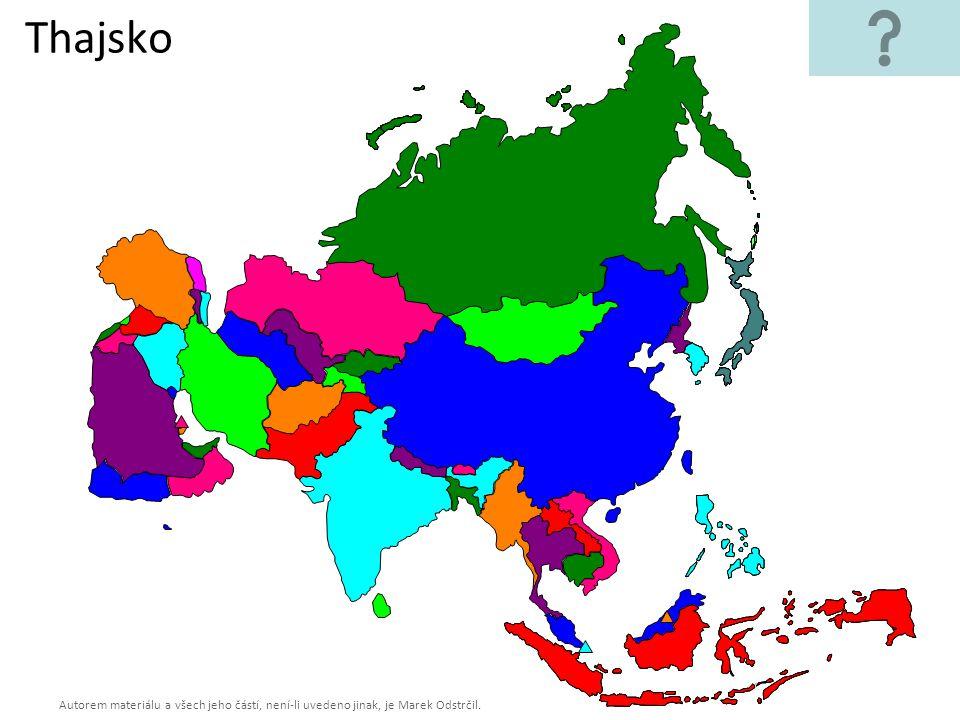 Autorem materiálu a všech jeho částí, není-li uvedeno jinak, je Marek Odstrčil. Thajsko