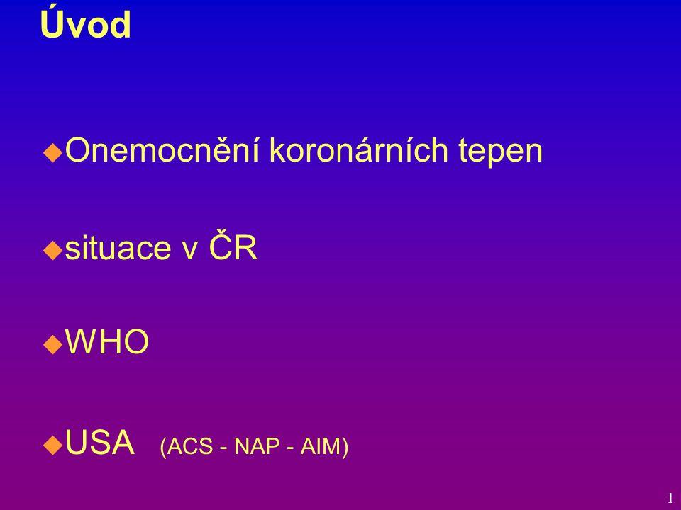 Historie biochemické dg AIM  Biochemická diagnostika ACS v minulosti  Moderní biochemická diagnostika ACS  Biochemická diagnostika ACS v 90.