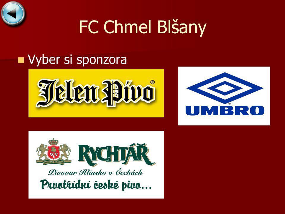 FC Chmel Blšany Vyber si sponzora