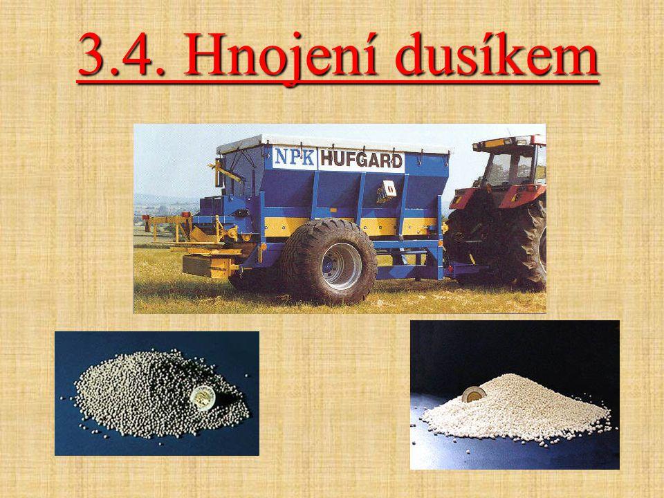 3.4. Hnojení dusíkem