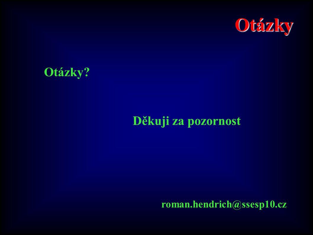 Otázky Otázky? roman.hendrich@ssesp10.cz Děkuji za pozornost