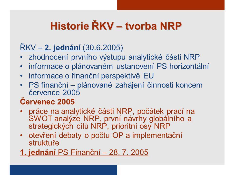 Historie ŘKV – tvorba NRP ŘKV – 2.