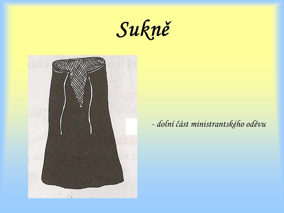 Sukně - dolní část ministrantského oděvu