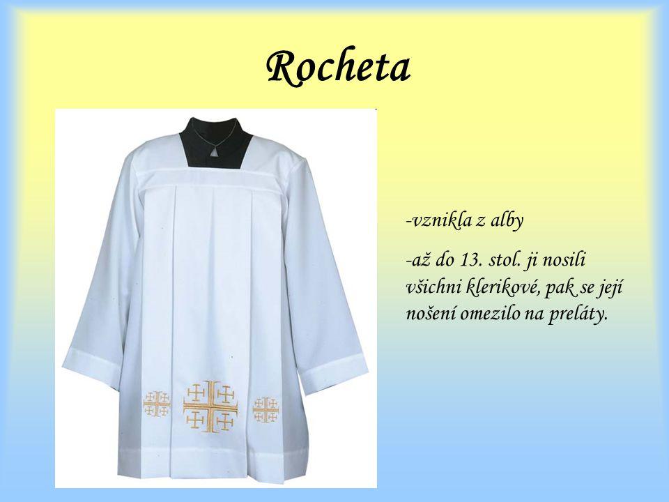 Rocheta -vznikla z alby -až do 13.stol.