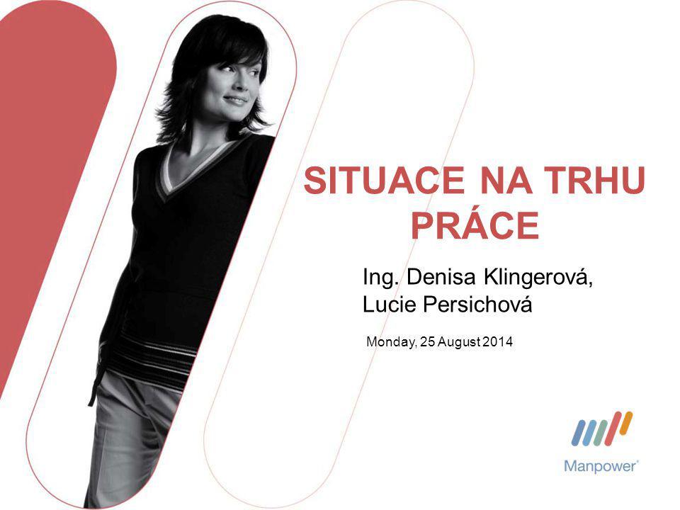 Monday, 25 August 2014 SITUACE NA TRHU PRÁCE Ing. Denisa Klingerová, Lucie Persichová